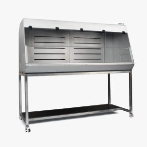 Stainless steel laboratory enclosure with pipetting and mobile phase preparation