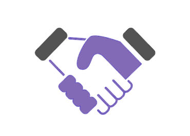 ICON HOLDING HANDS representing channel partners