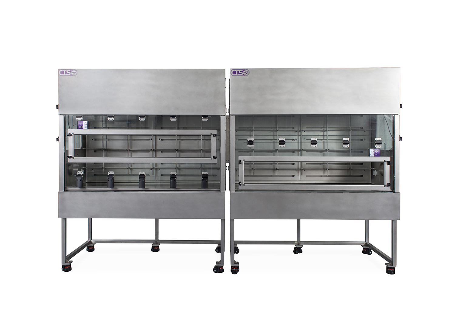 Stainless steel laboratory process containment enclosure for potency drugs