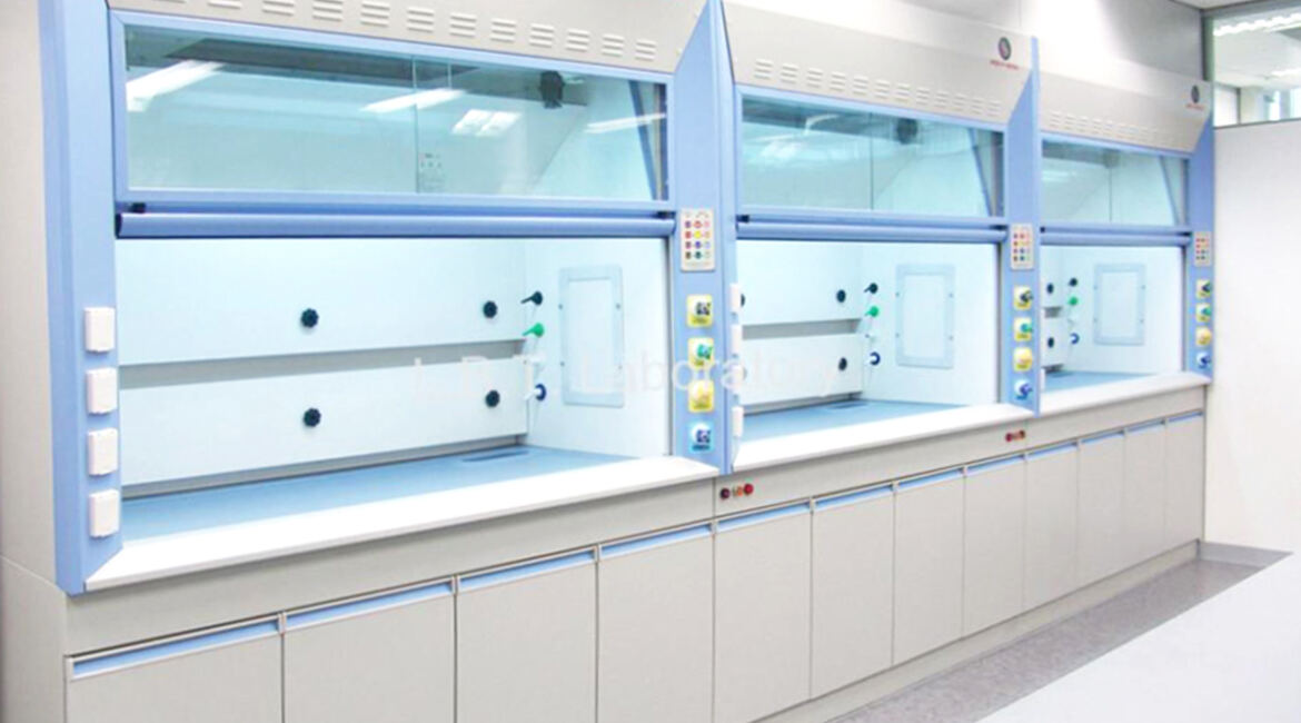 Ducted Fume Hoods in a laboratory