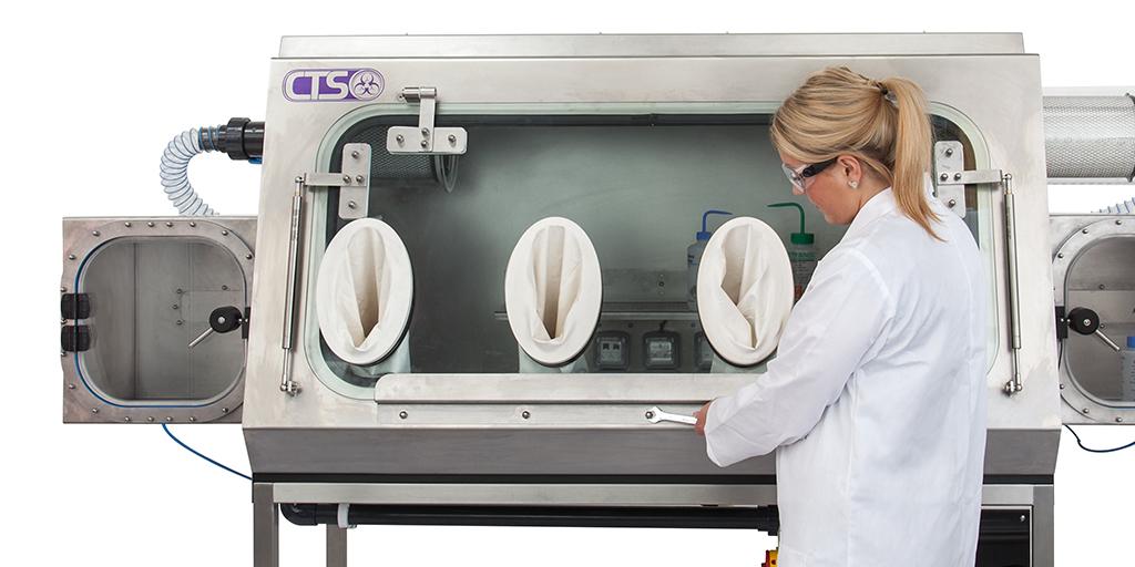 Analyst choosing a Laboratory Glove box Isolator