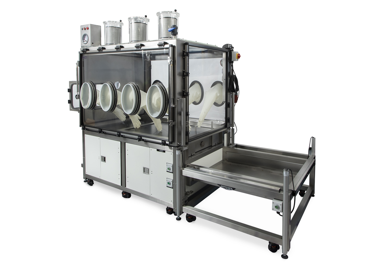 Laboratory HEPA Filtered Glovebox with docking system